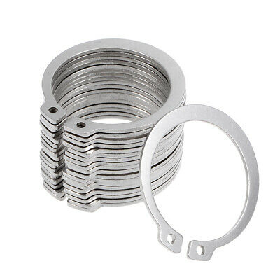 44mm External Circlips C-Clip Retaining Snap Rings 304 Stainless Steel 20pcs