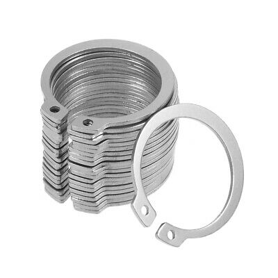 37.8mm External Circlips C-Clip Retaining Snap Rings 304 Stainless Steel 20pcs