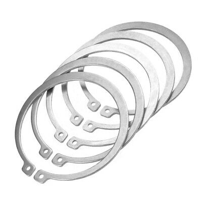 80mm External Circlips C-Clip Retaining Snap Rings 304 Stainless Steel 5pcs