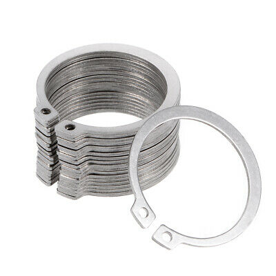 49mm External Circlips C-Clip Retaining Snap Rings 304 Stainless Steel 20pcs