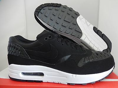 quality design 1abd5 01cda Nike Air Max 1 Woven Black-Dark Grey Sz 10  725232-001