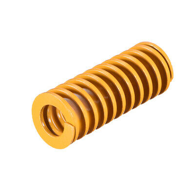 20mm OD 50mm Long Spiral Stamping Light Load Compression Mould Die Spring Yellow