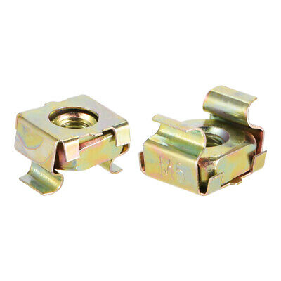 M5 Cage Nuts for Server Rack Cabinet, Carbon Steel Yellow Zinc Plated, 20 Pcs