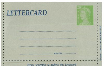 (Mix 15) Australia Lettercard 20 c +  uprated by 2 cents