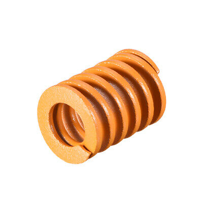 20mm OD 25mm Long Spiral Stamping Light Load Compression Mould Die Spring Yellow
