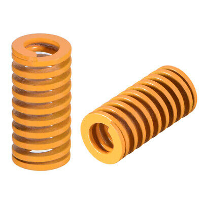 10mm x 20mmSpiral Stamping Light Load Compression Mould Die Spring Yellow 10Pcs