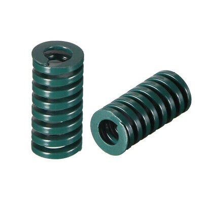 10x 20mm Long Spiral Stamping Heavy Load Compression Mould Die Spring Green 2pcs