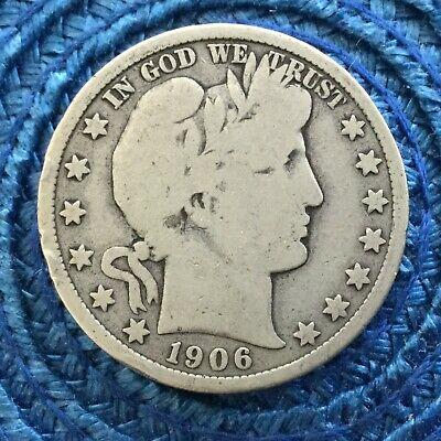 LOT # 7221 Barber half dollar 1906 d  in very good condition