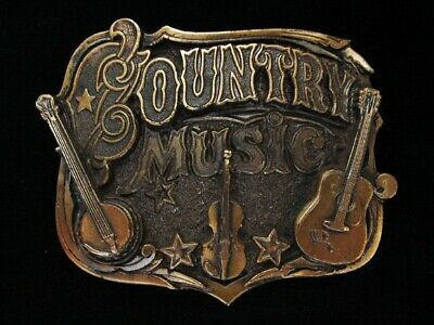 Ng15134 *Nos* Vintage 1982 **Country Music** Brasstone Great American Buckle