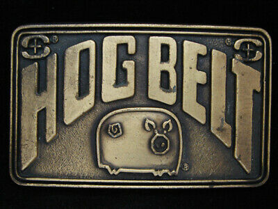 NI11152 VINTAGE 1970s **HOG BELT** SALSBURY LABORATORIES AGRICULTRE BUCKLE