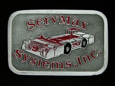 NG19127 VINTAGE 1970s **SERVMAX SYSTEMS, INC.** COAL MINING PEWTER BELT BUCKLE