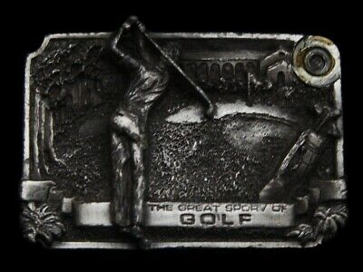 Mh01148 Vintage 1983 ********The Great Sport Of Golf******** Sports Belt Buckle
