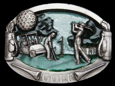 MG01158 REALLY NICE VINTAGE 1980s GAME OF **GOLF** SPORTS BELT BUCKLE