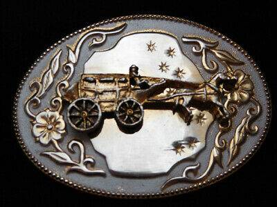 PF27138 VINTAGE 1970s **STAGECOACH** OLD WEST COMMEMORATIVE BELT BUCKLE