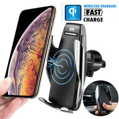 Automatic Clamping Wireless Car Charger Magnetic Mount Air Vent Phone Holder CHY