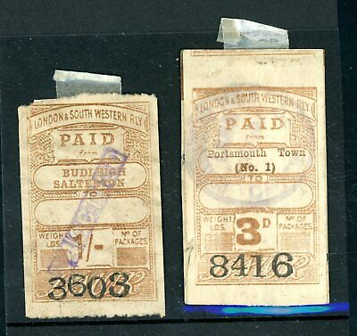 London South Western Railway  Parcel Stamps  1920  (2)  (M1478)