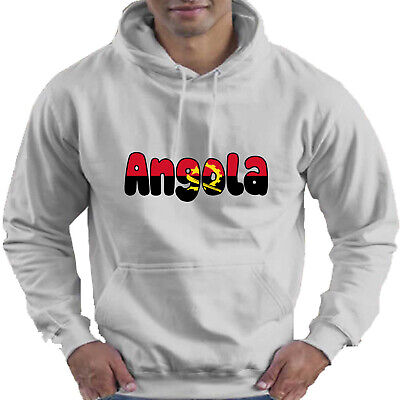 Angola Flag Love Childrens Childs Kids Boys Girls Hoodie Hooded Top