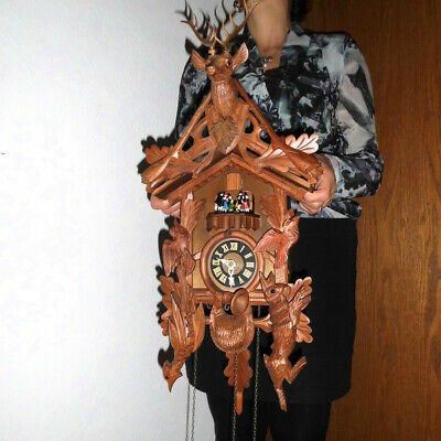 large musical cuckoo clock black forest wall clock made in germany 2 melodies