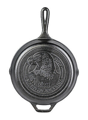Lodge Made in America Series 2019 Cast Iron Skillet with Logo, 10.25 Inch