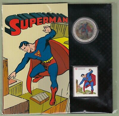 2013 RCM 50 Cents Coin and Stamp Set - 75th Anniversary of Superman
