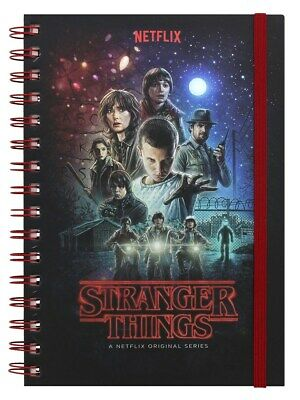 Stranger Things Notebook One Sheet A5 Black