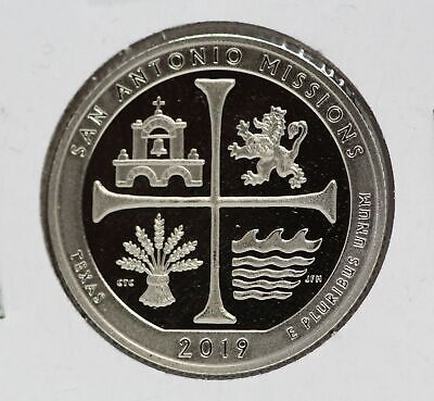 San Antonio Missions Clad Proof 2019 25C Washington Quarter ATB LE477