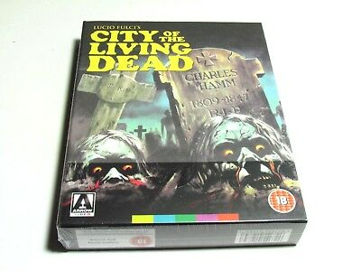 City Of The Living Dead Blu-Ray Arrow Video Limited Edition Slip Box Set Uk New