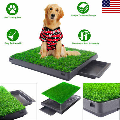 "20x25"" Pet Potty Trainer Grass Mat Dog Puppy Training Pee Pad In&Outdoor Toilet"