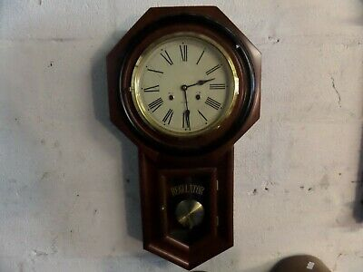 "Very Nice ""regulator A"" Mechanical Wall Clock With Chime, 28.5"" High, Runs Great"