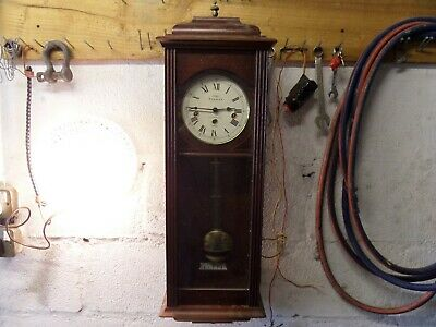 """Super """"sewills"""" Mechanical Wall Clock With W'minster Chime, 32"""" High, Runs Great"""