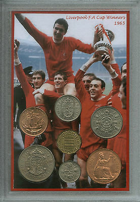 Liverpool FC Vintage FA Cup Final Winners Retro Supporter Fan Coin Gift Set 1965