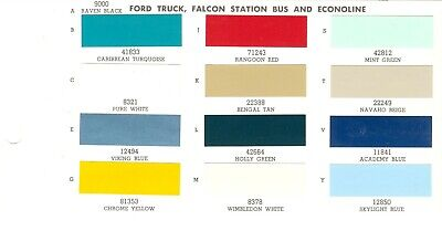 1964 Ford Pickup Truck F-100 F-250  Econoline Van Paint Chips Sheet (Ppg)