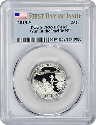 2019-S Clad War in the Pacific Park Quarter PR69DCAM PCGS FDOI First Day Issue