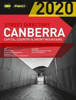 NEW Canberra Capital Country & Snowy Mountains Street Directory 2020 24th ed By