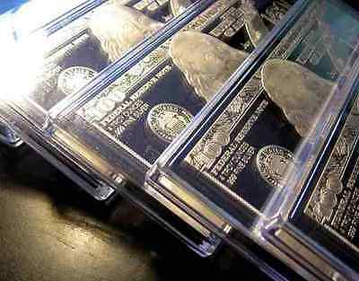 DISCOUNTED 10 x 2019 CURRENCY 4oz FRANKLIN  SILVER BARS = 40 ozs AIR-TITES + COA