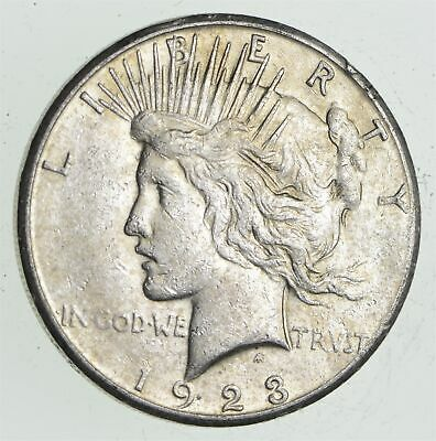 Early - 1923-S - Peace Silver Dollar - 90% US Coin *671