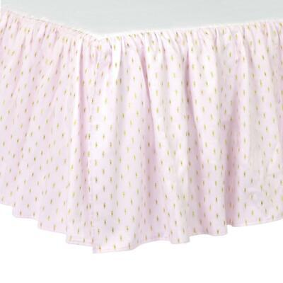 Just Born Sparkle Crib Skirt, Pink