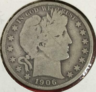 1906S US Barber SILVER Half Dollar! Very Good! Old US coin!
