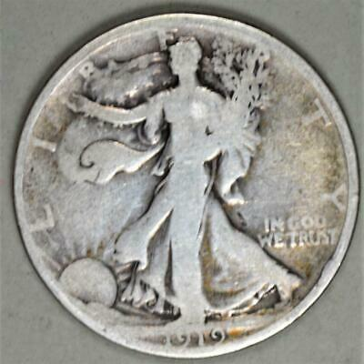 1919 Walking Liberty Half Dollar Silver Coin