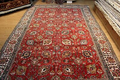 11' x 7' Circa 1930's Antique Persian authentic Red Background Floral Rug #PM75