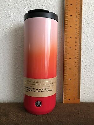 Starbucks 2019 Valentine Collection Pink Red Stainless Steel Tumbler 16 fl NEW