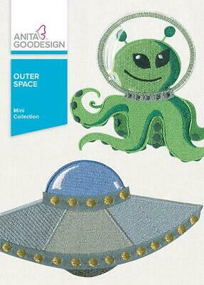 Anita Goodesign Outer Space Embroidery Machine Designs CD