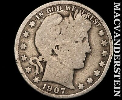 1907 Barber Half Dollar-Scarce Better Date!!  #d9042