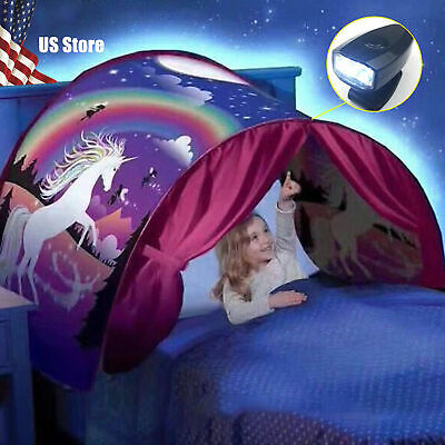 Dream Tents As Seen on TV Winter Wonderland Twin Size Bed Tent Folds Flat.