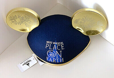 Disney Parks Most Magical Place on Earth Mickey Mouse Ears Hat Adult Size NEW