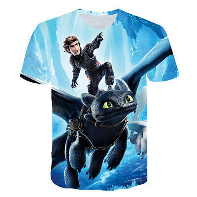Casual 3D T-Shirts Film How To Train Your Dragon Short Sleeve Women Men Tee Tops