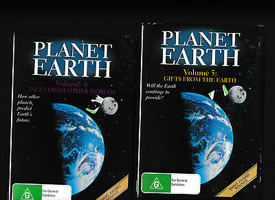 NEW/SEALED:Planet Earth 4 Tales From Other Worlds DVD/5 Gifts From The Earth DVD
