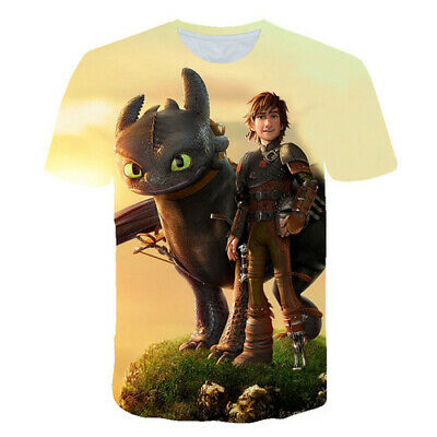Film How To Train Your Dragon 3D Printed Women Men T-Shirt Short Sleeve Tee Tops