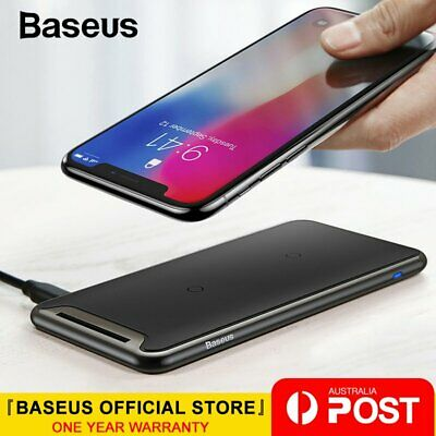 Baseus 10W QI Wireless Charger For iPhone Xs X Galaxy S10 S9 Charging Pad Dock