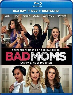 BLU-RAY Bad Moms (Blu-Ray/DVD) NEW Mila Kunis, Kristen Bell